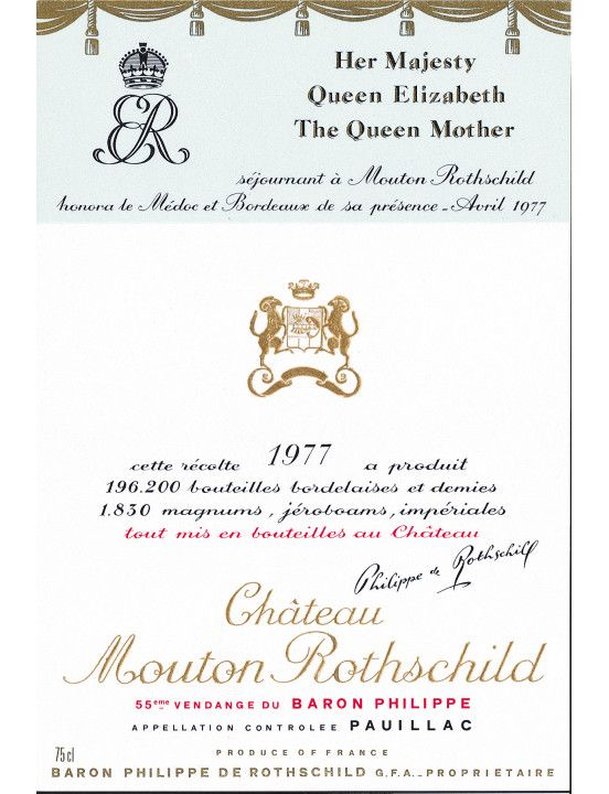 Epingle Sur Mouton Rothschild