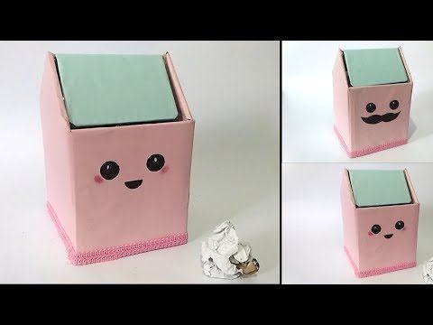 Cara Membuat Tempat Sampah Mini Dari Kardus Bekas Ide Kreatif