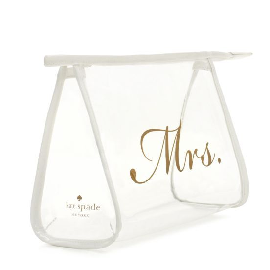 kate spade | designer cosmetic bags - bridal airline cosmetic -- fill it with honeymoon essentials as a gift