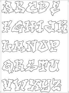 Graffiti Alphabet Letters Template Graffiti Buchstaben Graffiti Schrift Graffiti Schriftart