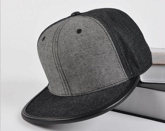 Denim Jeans patchwork blank Snapback Hat flat brim Baseball Cap Flat Cap Hip Hop Hat