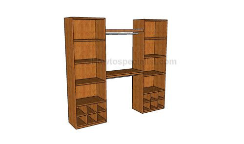 How to build a closet organizer   HowToSpecialist - How to Build, Step by Step DIY Plans