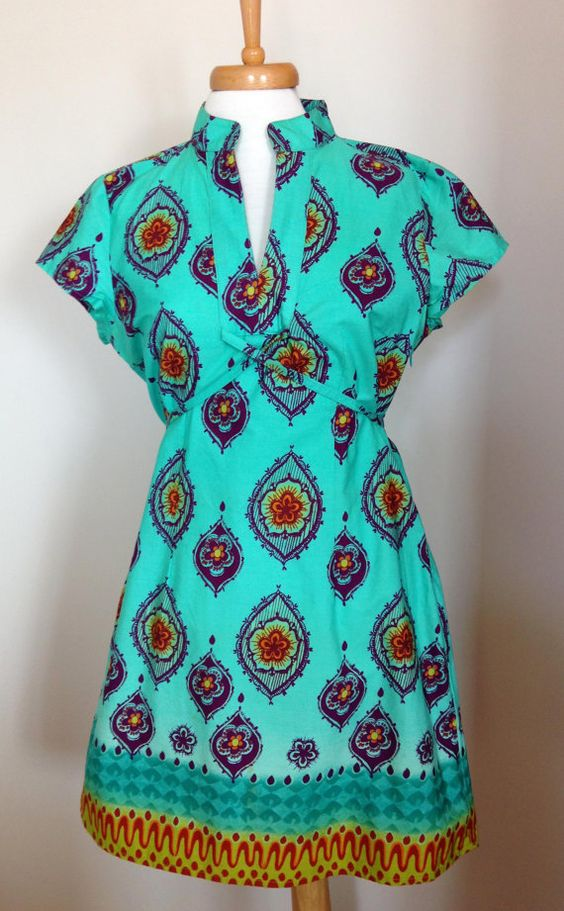 Turquoise Ethnic Summer Dress