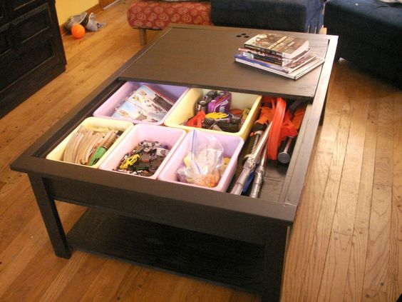 The Ana White Lego Train Table Afromartha Edition Coffee Table And Storage All You Have To