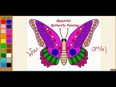 Kea Coloring Book Tutorial 3 Beautiful Butterfly Youtube Coloring Books Beautiful Butterflies Butterfly Painting
