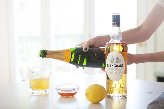 Glen Grant Cocktail - Glen Grant Scotch, Honey Syrup (Recipe), Lemon ...