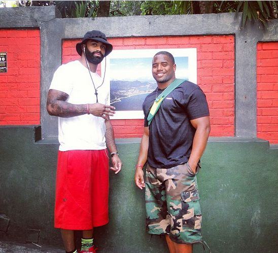 NFL Jerseys Wholesale - TE Niles Paul and FB Darrel Young in Brazil | Redskins Go Global ...