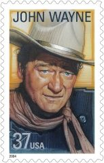 Born Marion Robert Morrison, John Wayne played many memorable roles during his 50–year career, but he is perhaps best known for characters exhibiting the rugged individualism associated with the American cowboy. He won an Academy Award for his role as Rooster Cogburn, the one-eyed marshal in True Grit (1969).