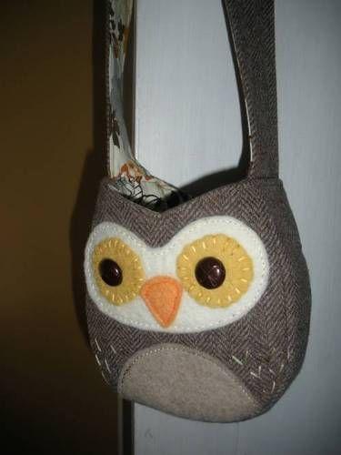 upcycled owl purse @craft @purse @owl