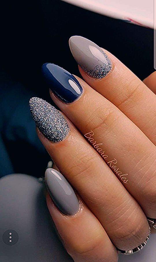 Kristina Gurina Nagelstudio Mannheim Nagelmodelage Nailart Nageldesign Nailsofinstagram Today Pin Grey Nail Art Coffin Nails Designs Nail Designs