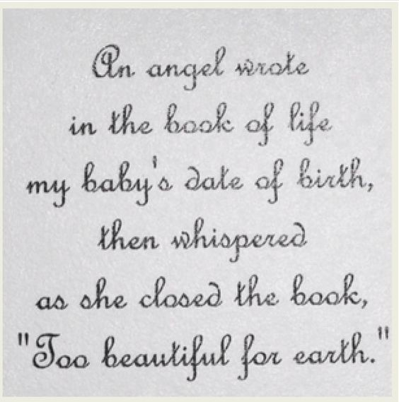 I Love This Beautiful Quote For Baby / Child Loss