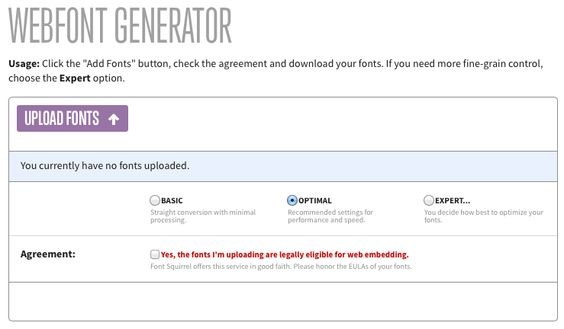 WEBFONT GENERATOR   wwwfontsquirrel/tools/webfont