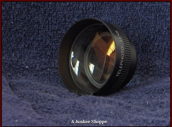 TELEPHOTO Camcorder Camera Lens Made In Japan Generic Unbranded   HP 5233  http://ajunkeeshoppe.blogspot.com/