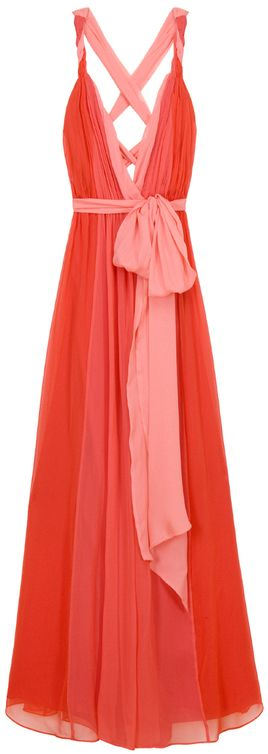 so pretty!: Summer Dresses, Maxi Dresses, Coral Gown, Grecian Gown, Bridesmaid Dresses, Halston Heritage, Gorgeous Dress, Coral Maxi