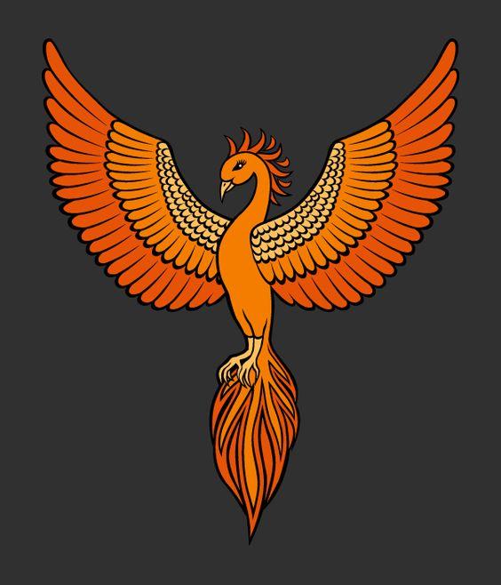 Phoenix emblem design | Nela Dunato Art & Design