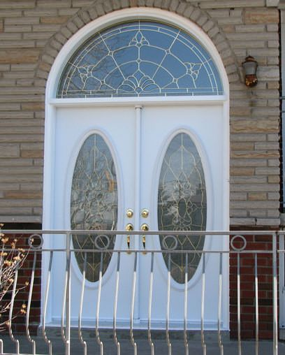 Double Door with Oval Shape Inserts