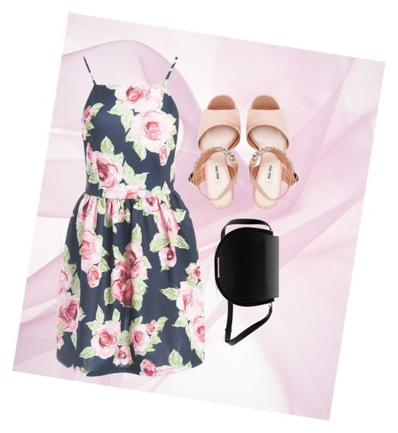 """""""Life Happens"""" by kelseygrace3 on Polyvore featuring Sans Souci and Miu Miu"""