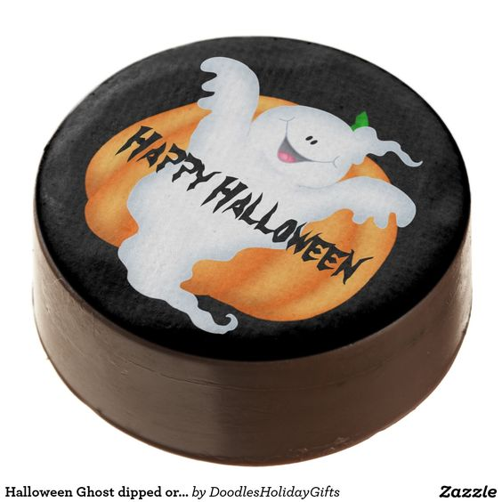 Halloween Ghost dipped oreo cookie Chocolate Dipped Oreo  Artwork designed by DoodlesHolidayGifts