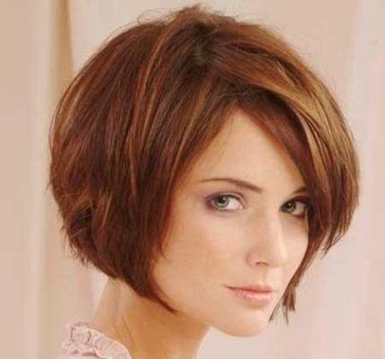 Short Bob Haircuts With Bangs Thick Hair Styles Bob Hairstyles Haircut For Thick Hair