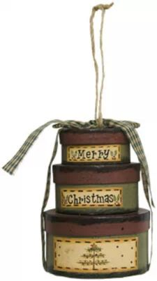 View Item: Christmas Stacking Boxes Ornament-Rustic and Primitive