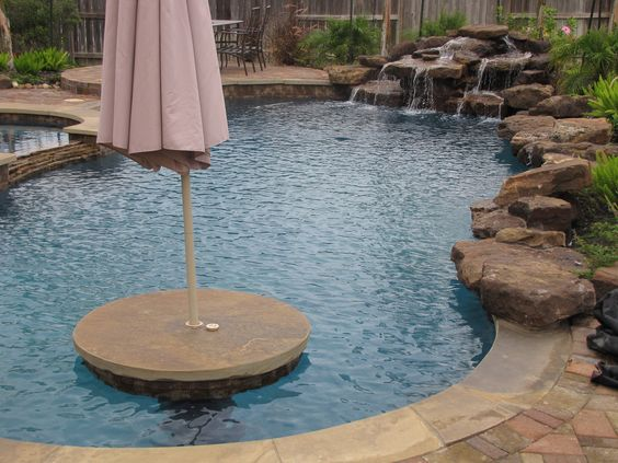 Umbrella Table In Pool Outdoor Space Pinterest Pools Swimming And Swimming Pools
