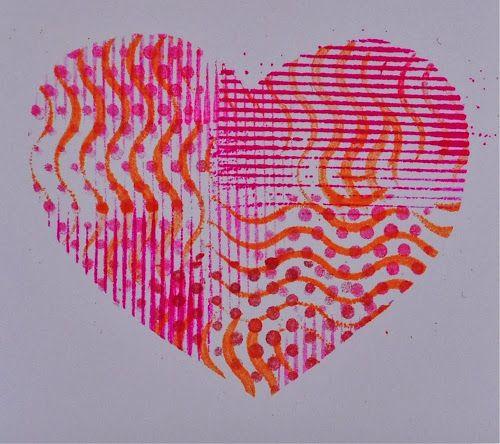 Art with Kids: Stenciled Valentines