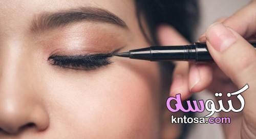 طريقة وضع الايلاينر بسهولة بالصور Kntosa Com 05 19 156 Makeup Tips Color Sensational Lipstick Lipstick