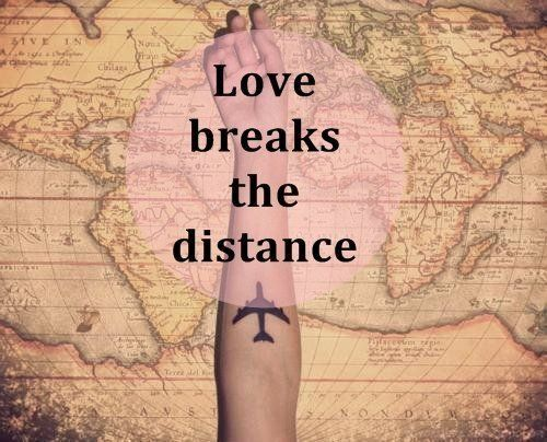 love breaks the distance