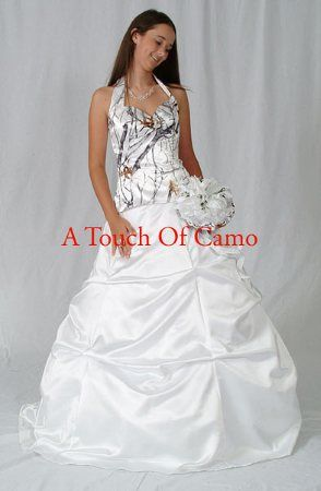 White camo wedding dress camo wedding dresses and white for Snow camo wedding dresses