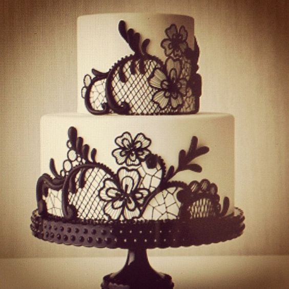 LACE CAKE  For more images that inspire Samantha's designs... Be sure to visit; http://www.facebook.com/SamanthaWillsBridal