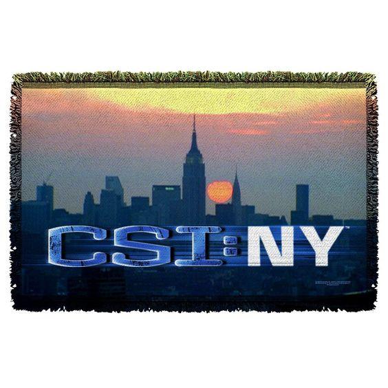 Csi:new York City Logo Throw Blanket