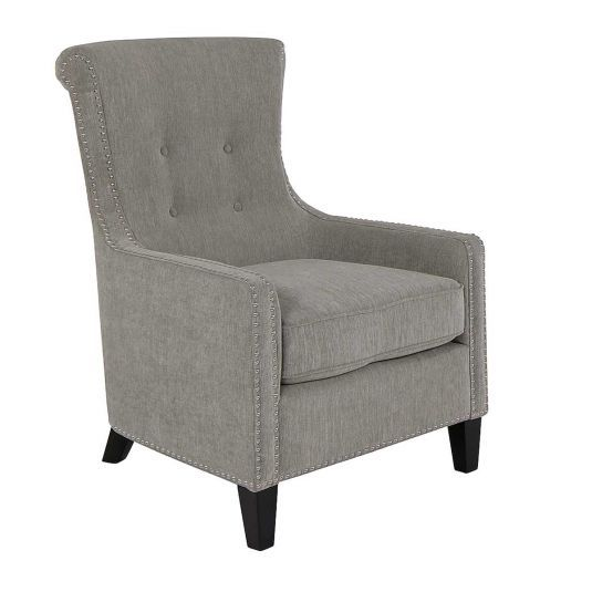 Luca Accent Chair In Light Blue Jerome S Furniture Jerome