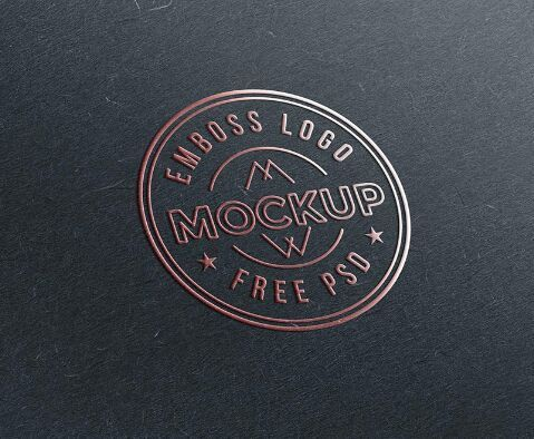 Emboss Paper Logo Mockup Psd Free Logo Mockup Logo Mockup Free Logo Mockup Psd