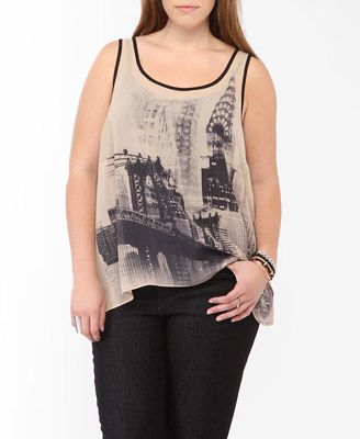 New York Contrast Tank | FOREVER21 PLUS - 2017127241