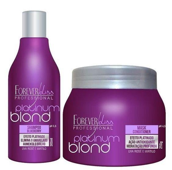 Forever Liss Platinum Blond - Kit Matizador Manutenção - LaCubana os melhores produtos para o seu Cabelo está aqui!