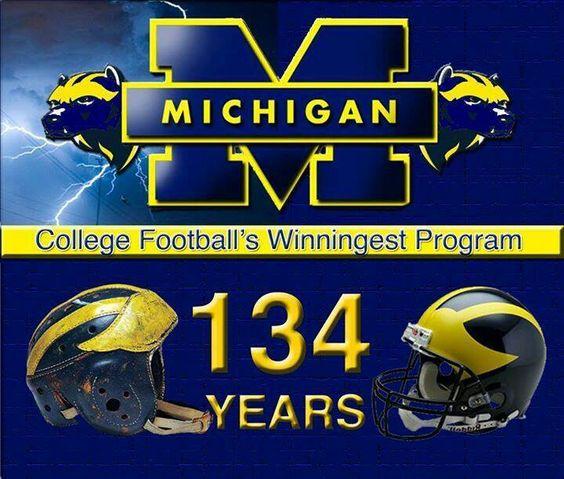134 years the Victor. U of M football