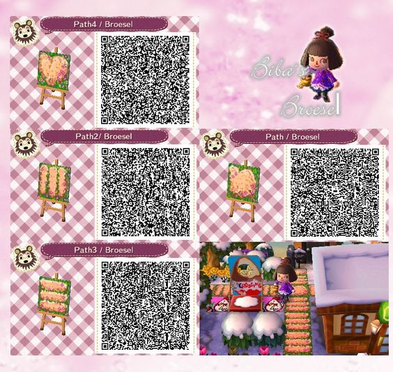 Path weg fr hling spring qr acnl broesel Boden qr codes animal crossing new leaf