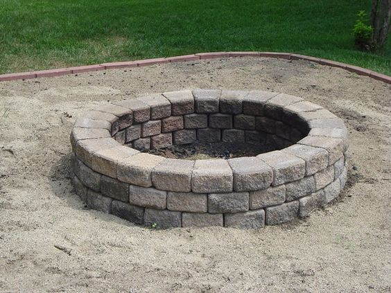 Yes, please!  This fire pit looks like it's dropping off into some magical yet mysterious place.