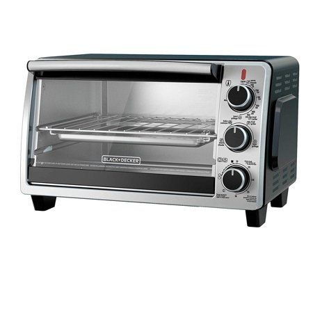 Black Decker To1950sbd 6 Slice Convection Countertop Toaster Oven Includes Bake Pan Broil Rack Toasting Rack Stainless Steel Black Convection Toaster Oven Countertop Oven Toaster Oven