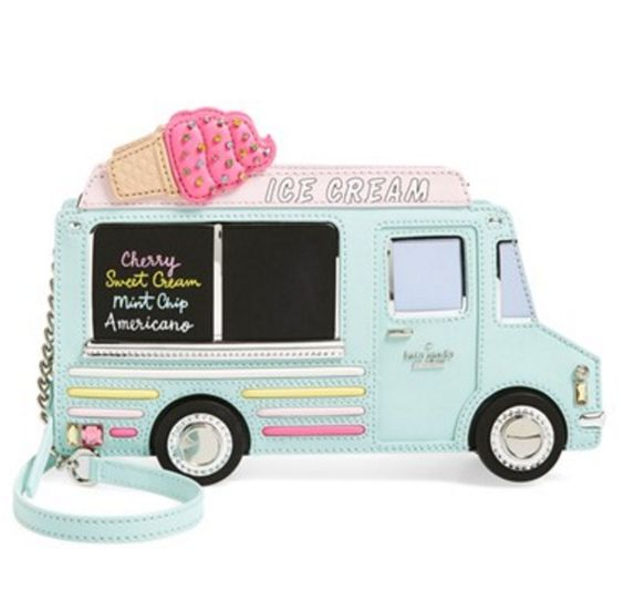 ice cream truck leather shoulder bag