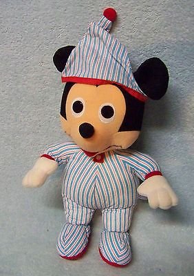 Vintage Playskool Beddy Bye Mickey Mouse 70132 Plush Lovey Pajamas Hat