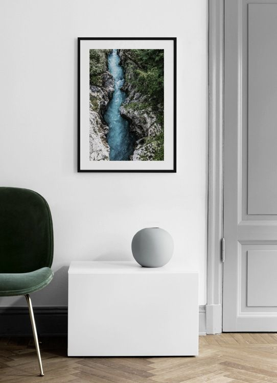 The Soca River Poster Country Wall Art Online Wall Art Frames On Wall