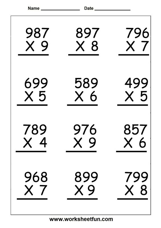 math worksheet : multiplication worksheets for 5th grade  worksheetfun  free  : Free Math Worksheets For 5th Grade
