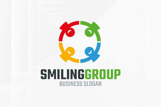 Smiling Group Logo Template by LiveAtTheBBQ on @creativemarket