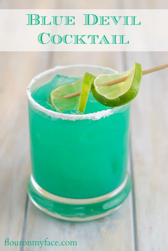Blue devil cocktail recipe bacardi rum devil and summer for Cocktail curacao