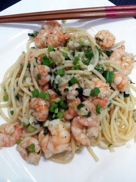 "Simple,Easy pasta and shrimp by Pam...! 5.00 stars, 5 reviews. ""simple and easy but i love d taste :hungry :hungry :hungry"" @allthecooks #recipe #pasta #shrimp #easy #quick #cold"