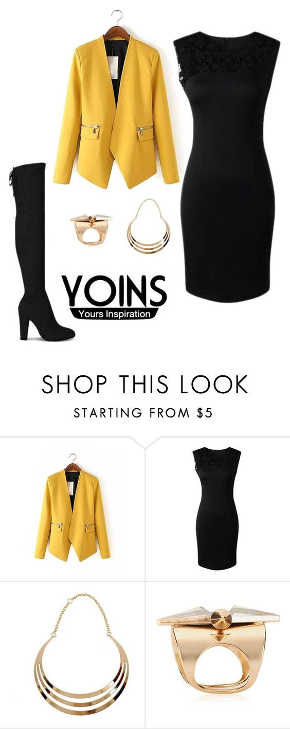 """black dress"" by bello-224 ❤ liked on Polyvore featuring women's clothing, women, female, woman, misses, juniors and yoins"