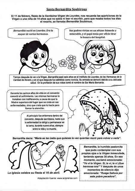 El Rincón de las Melli: Breve historia de Santa Bernardita