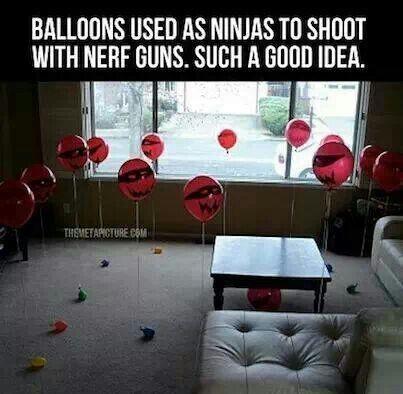 Ninja Balloons to shoot with nerf guns