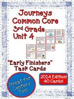 Early Finishers Task Cards for Journeys 3rd Grade Unit 4 2014